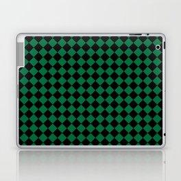 Black and Cadmium Green Diamonds Laptop & iPad Skin