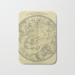 Atlas, Designed to Illustrate the Geography of the Heavens, plate 6 (1850) Bath Mat