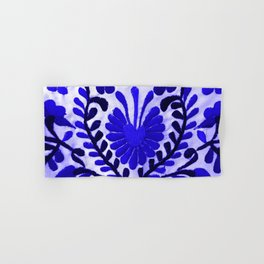 Beautiful Midnight Blue Mexican Flower Hand & Bath Towel