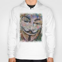 grafitti Hoodies featuring Anonymous by Michael Creese