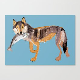 Totem Coastal wolf (Vancouver Wolf) Canvas Print