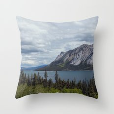 Tagish Lake Yukon Canada Throw Pillow