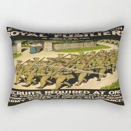 Vintage poster - British Military Rectangular Pillow