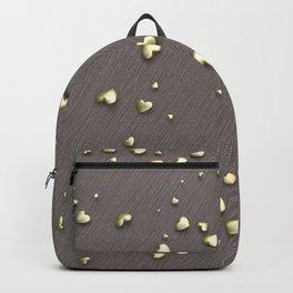 VALENTINE HEARTS - Gold Hearts & Dark Pinstripe Backpack