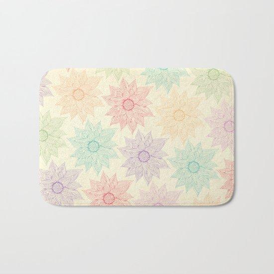 Spring Floral Bath Mat