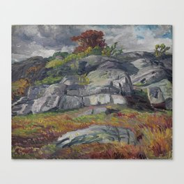 John Sloan - Scavenger's Rocks - 1914 Canvas Print