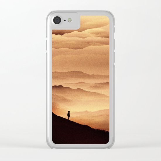 Red Noise Isolation Series Clear iPhone Case