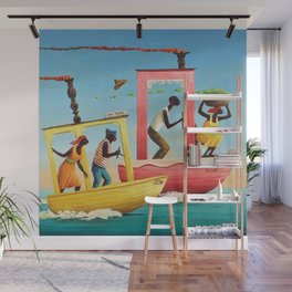 African American Masterpiece 'Course Furieux' by Orville Bulman Wall Mural