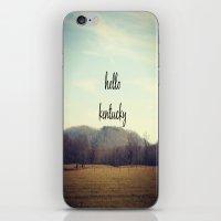 kentucky iPhone & iPod Skins featuring Hello Kentucky by KimberosePhotography