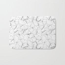 ginkgo leaves (white) Bath Mat