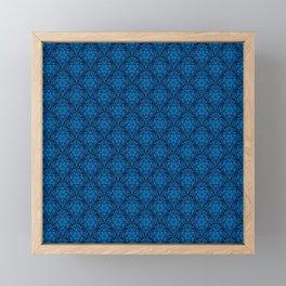 Metatron's Cube Damask Pattern Framed Mini Art Print