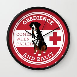 Obedience and Rally Badge Wall Clock
