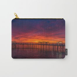 Redondo Pier Sunset Carry-All Pouch