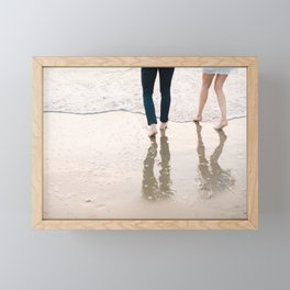 """Wanderlust beach photography print """"Find me at the se"""" photo art made in Holland. Pastel colored Framed Mini Art Print"""