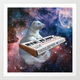 Space Ferret Art Print