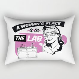 A Woman's Place Is In A Lab Rectangular Pillow
