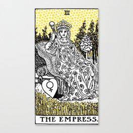 Modern Tarot Design - 3 The Empress Canvas Print