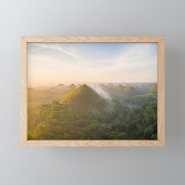 Panoramic landscape of the Chocolate Hills in Bohol | The Philippines travel photography Framed Mini Art Print