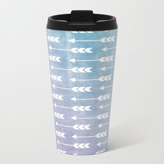 Aztec Pattern 09 Metal Travel Mug