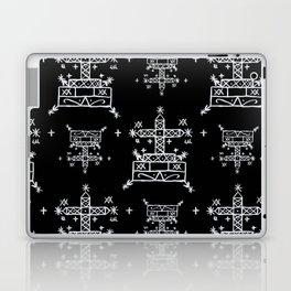 Baron Samedi Voodoo Veve Symbols in Black Laptop & iPad Skin