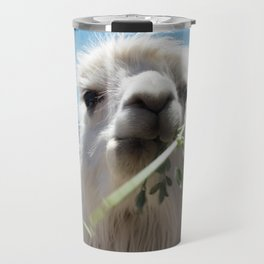 Llama eatin in Peru Travel Mug