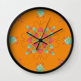 Strawberries and Cupcakes Wall Clock