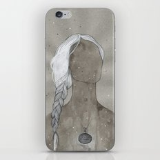 girl with silver oval telkari necklace iPhone & iPod Skin