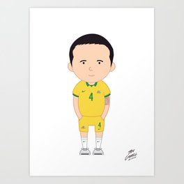 Tim Cahill - Australia - World Cup 2014 Art Print