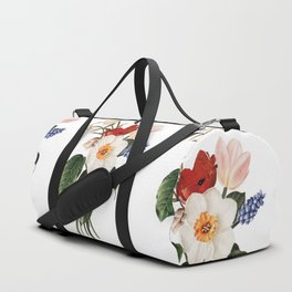 Spring Flowers Bouquet Duffle Bag