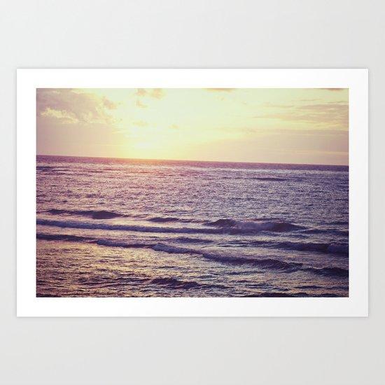 Sunrise Over Ocean Art Print