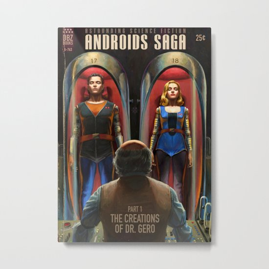 Androids Saga - The Creations of Dr Gero Metal Print