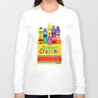 sesame street Long Sleeve T-shirts featuring Color Me Sesame by Mike Boon