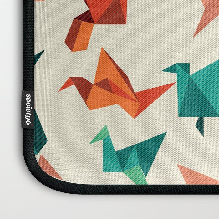 teal paper cranes Laptop Sleeve