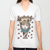 regina mills V-neck T-shirts featuring Regina Bebé by A+A Noisome Art
