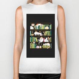 Library cats Biker Tank