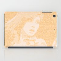 paramore iPad Cases featuring Hayley Williams Lyric Portrait by Emily Becker