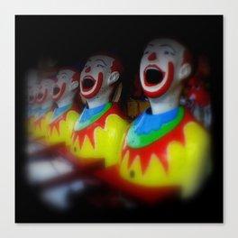 Laughing Clowns Canvas Print