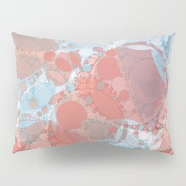 Round And Round Coral Blue Pillow Sham
