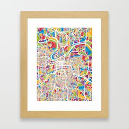 Kansas City Missouri City Map Framed Art Print