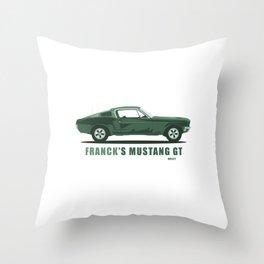 Franck's Mustang GT from Bullit Throw Pillow