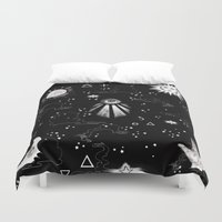 alchemy Duvet Covers featuring Spiritual Alchemy by Deborah Panesar Illustration