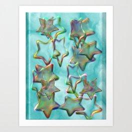 Marbled Stars Art Print