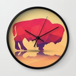 Geometric buffalo Wall Clock