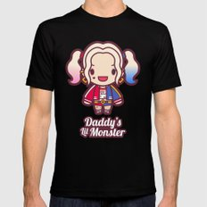 Daddy's Lil Monster MEDIUM Black Mens Fitted Tee