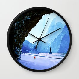 Snowy and Icy Landscape  Wall Clock