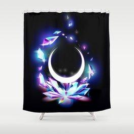 Dark Moon Ginzuishou Shower Curtain