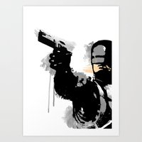 robocop Art Prints featuring RoboCop by Molnár Roland