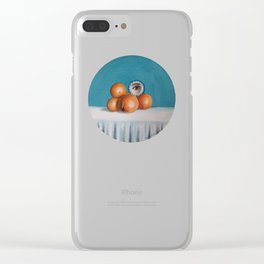 the orange girl Clear iPhone Case
