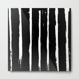 Minimal [3]: a simple, black and white pattern by Alyssa Hamilton Art Metal Print