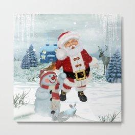 Funny Santa Claus Metal Print